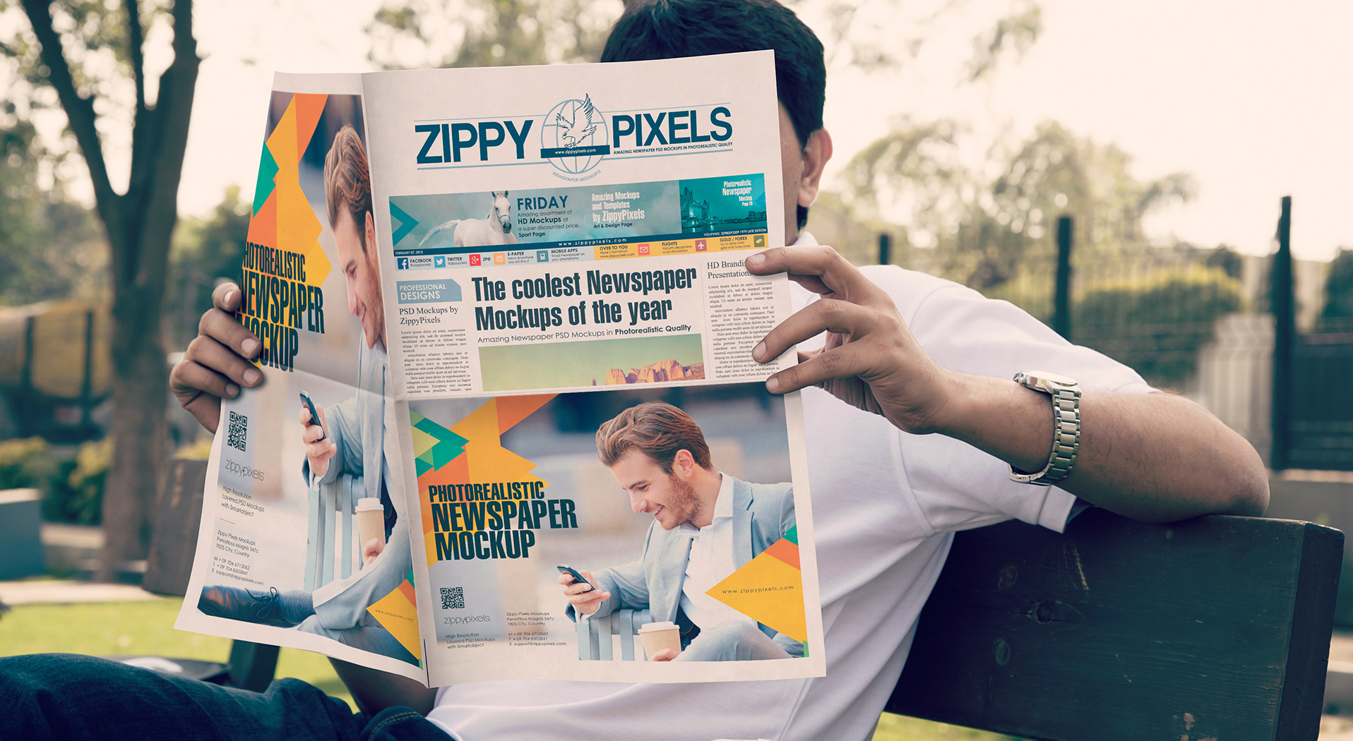 Newspaper Advertisement Mockups vl 6
